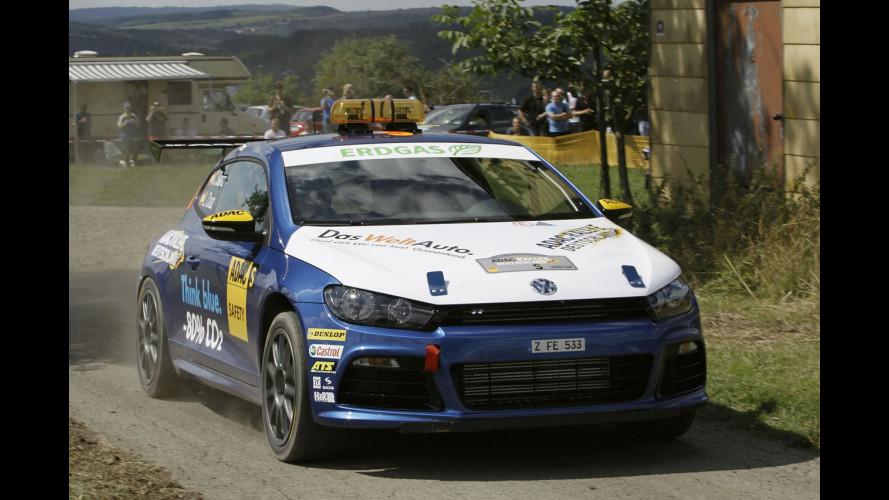 La VW Scirocco R a metano apre l'ADAC Rally
