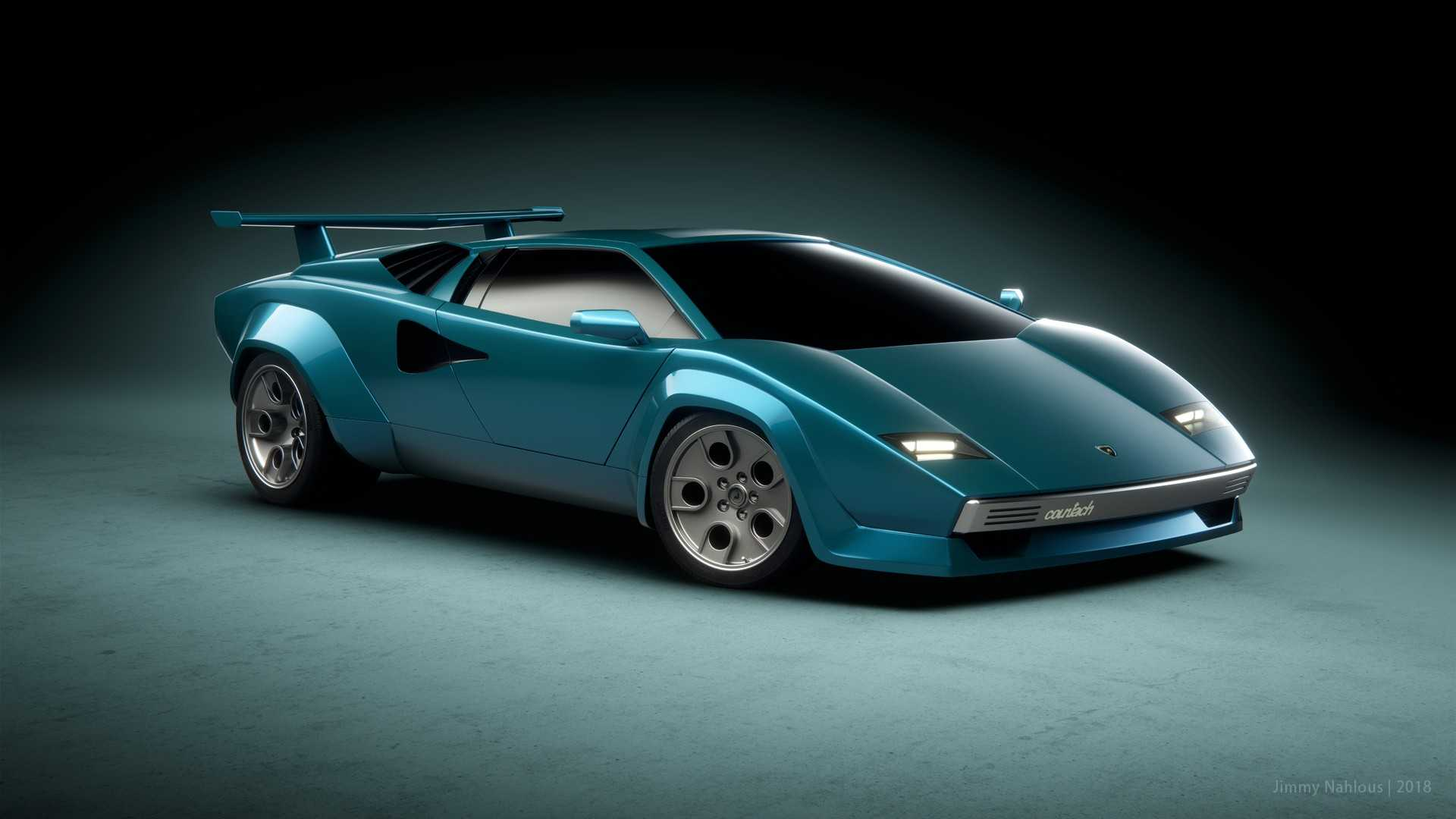 Lamborghini Countach Render Is What Bedroom Posters Are Made Of