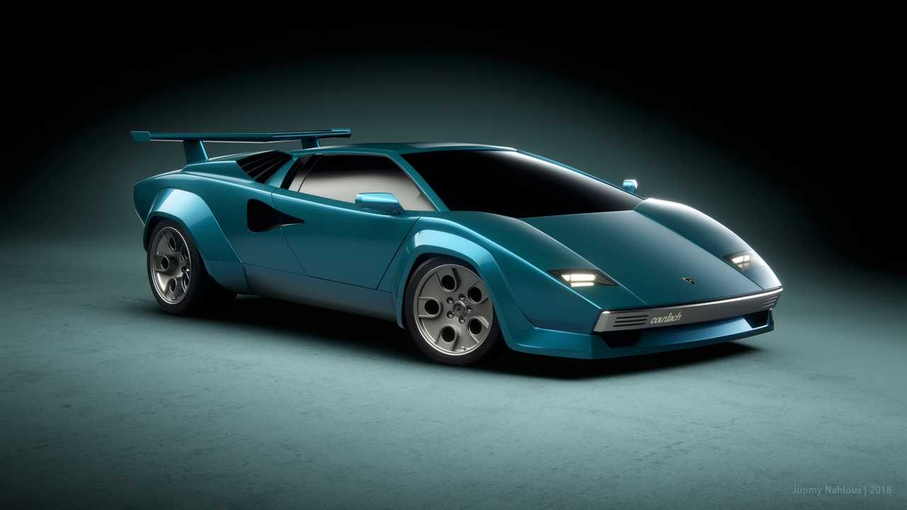 Lamborghini Countach Render Is What Bedroom Posters Are