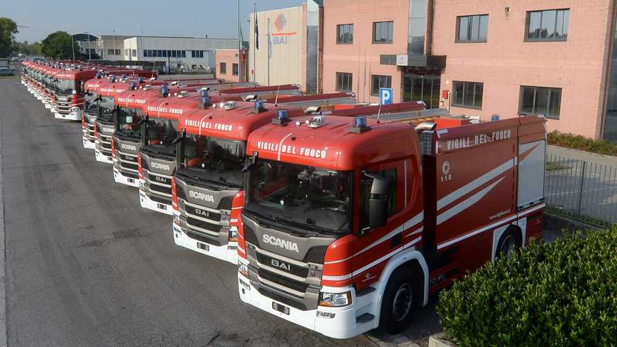 60 nuovi Scania per i pompieri d'Italia