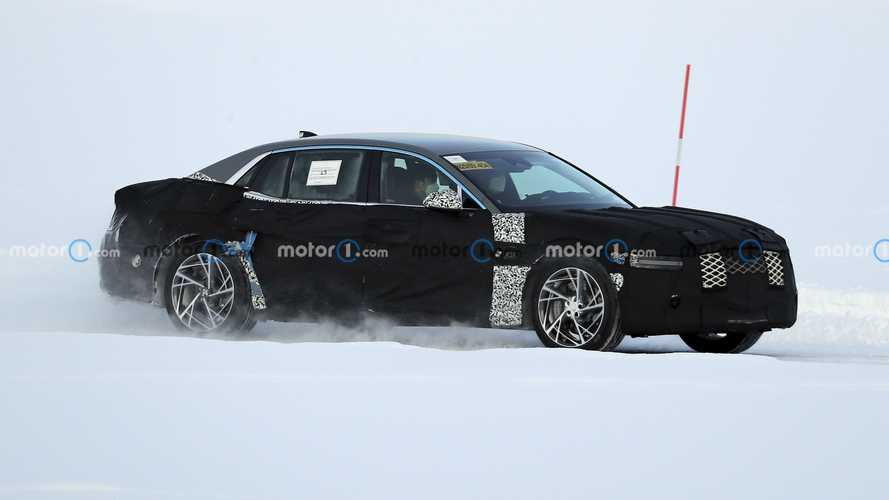 New Genesis G90 Spied Testing In The Cold With Some Nifty Wheels