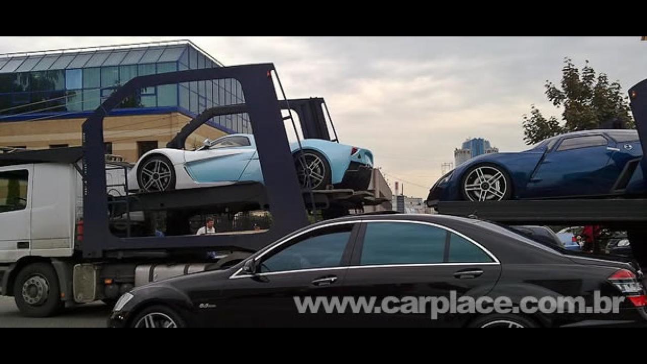 Salão de Frankfurt: Esportivo russo Marussia B2 é revelado no trânsito!