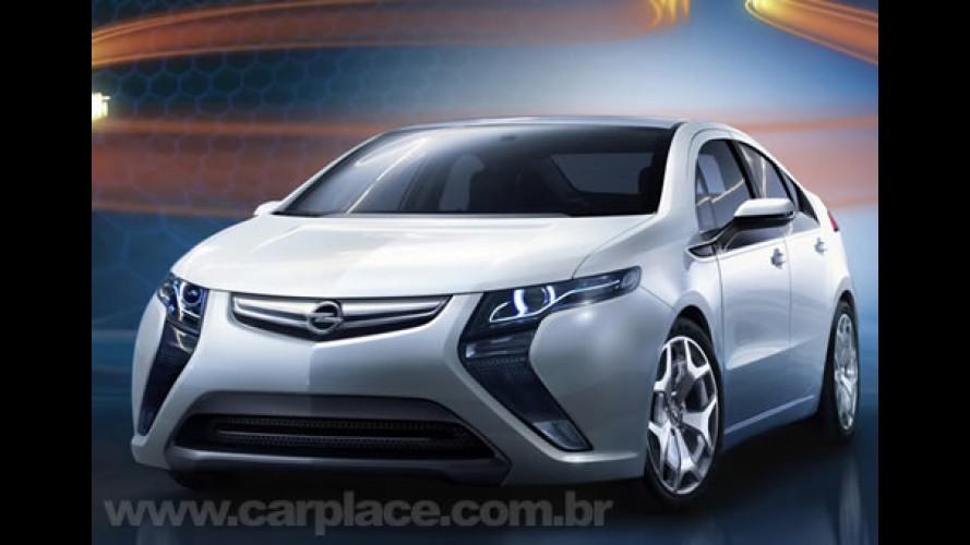 GM Volt Europeu: Opel divulga primeira imagem oficial do elétrico Ampera