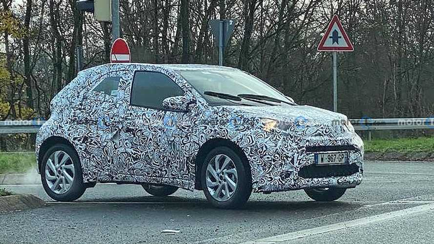 Next-gen Toyota Aygo spied for the first time with tiny wheels
