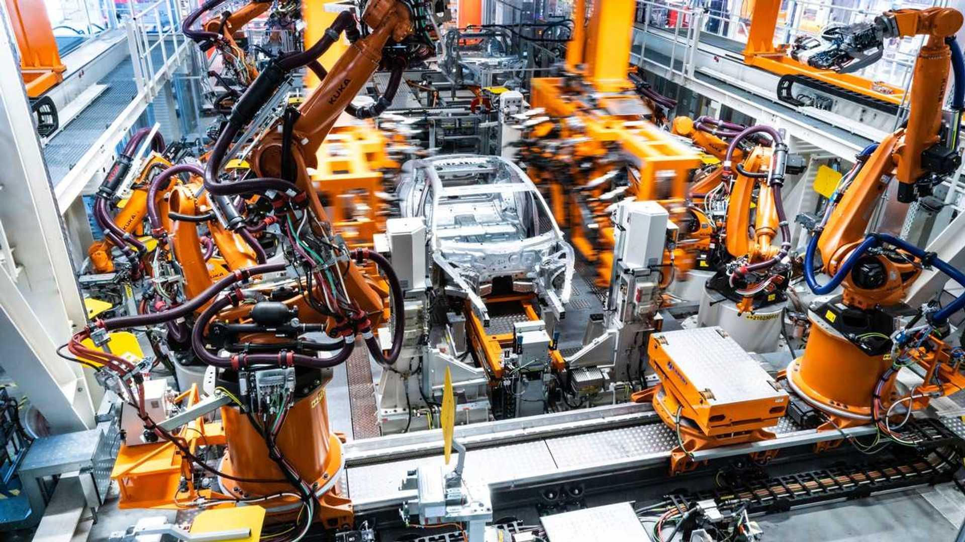 Audi e-tron GT in production