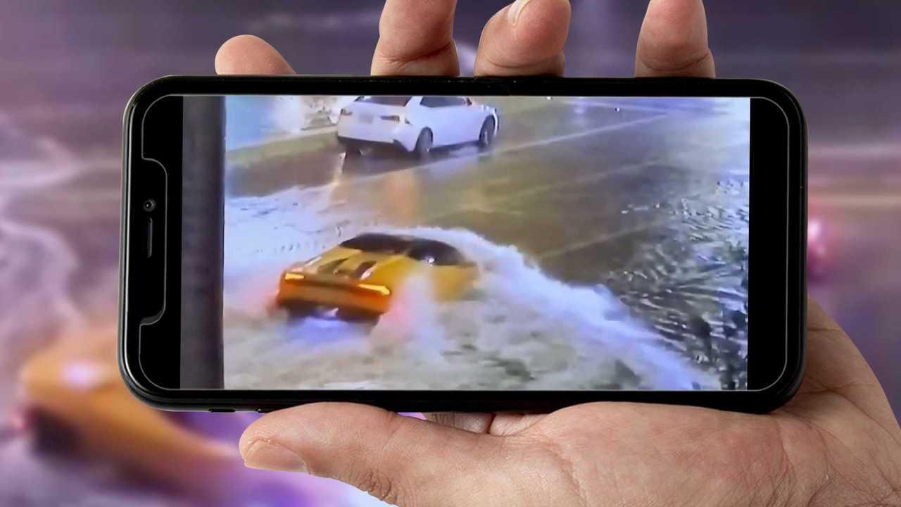 Lamborghini Huracan nell'alluvione