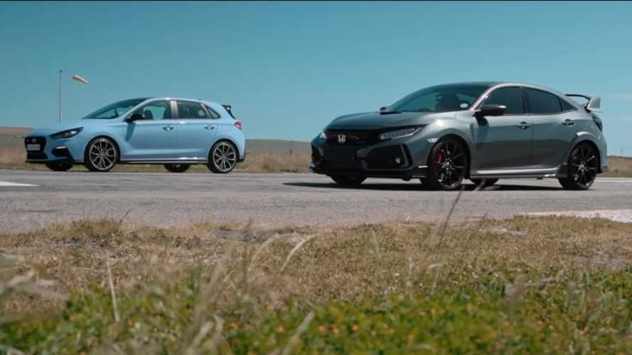 Hyundai i30 N Attempts To Beat Honda Civic Type R In Drag Race