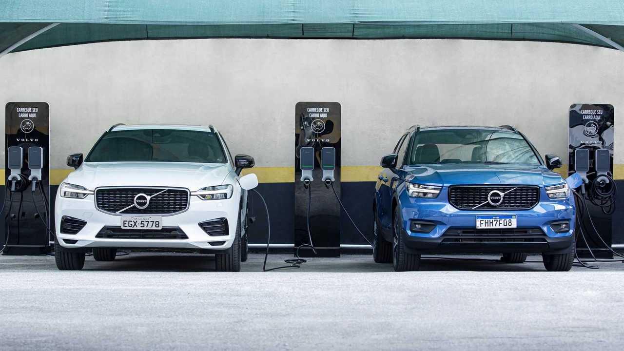 Volvo - estacionamento para elétricos e híbridos plug-in