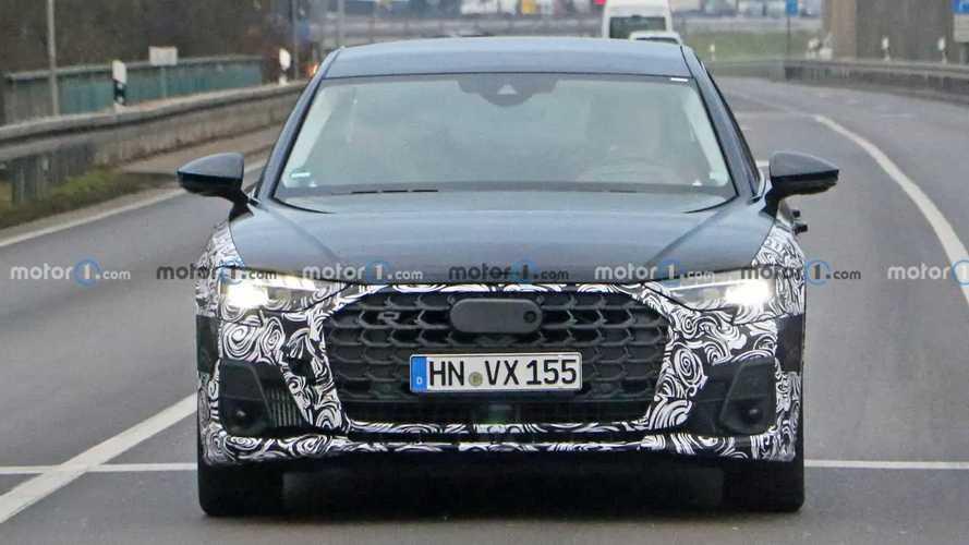 2022 Audi A8 facelift first spy photos