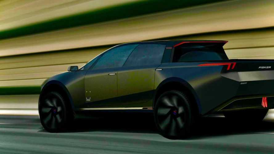 Picape elétrica da Fisker tem a 1ª imagem divulgada e promete design radical