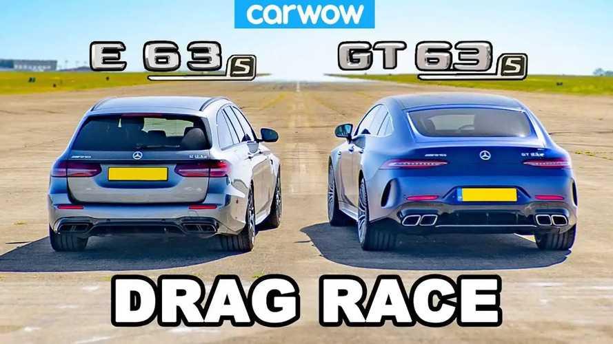 Egymásnak ugrott a Mercedes AMG GT 63 S és az E63 S Estate