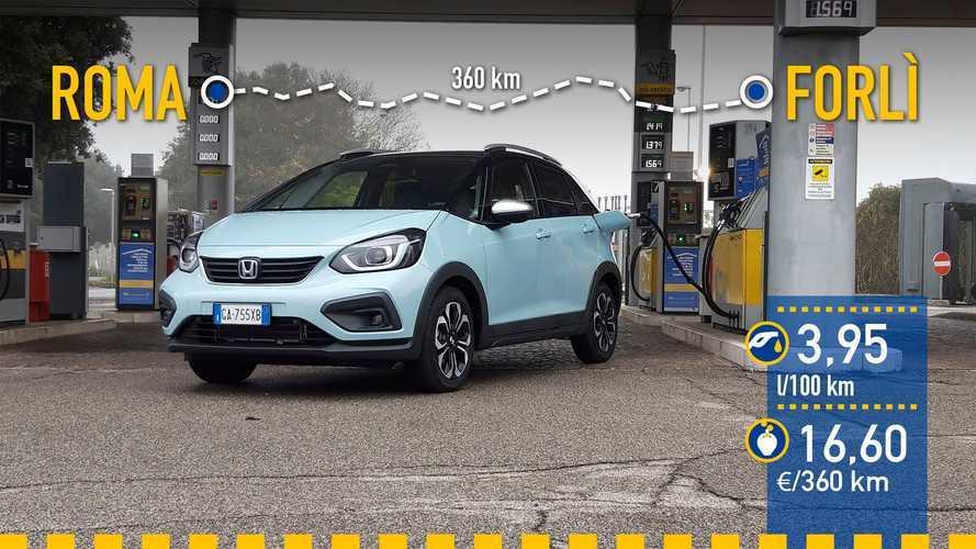 Honda Jazz híbrido (e:HEV) 2020: prueba de consumo real