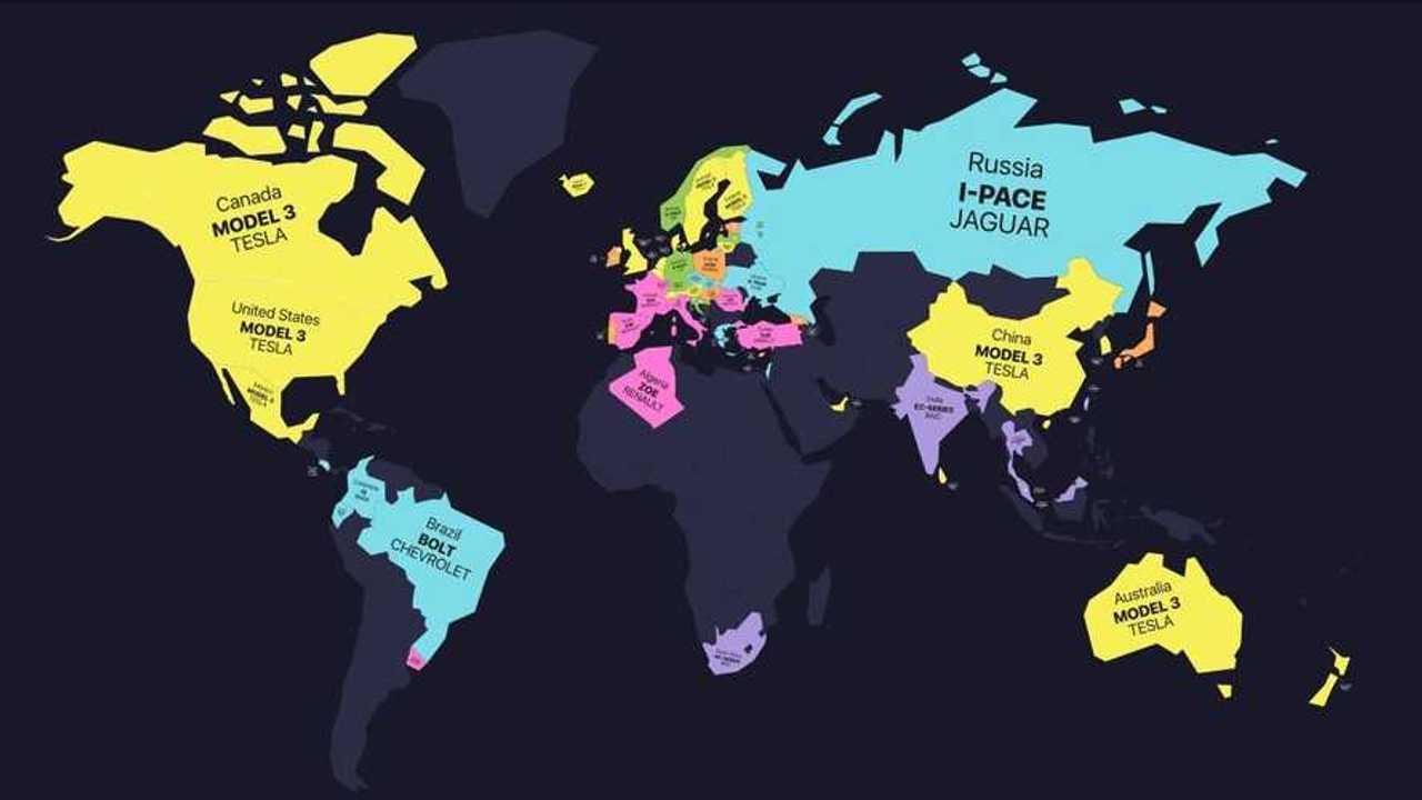 world map ev dominance