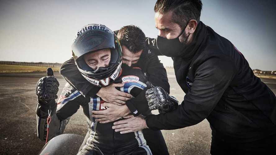 Max Biaggi, record di velocità sulla moto elettrica Voxan Wattman