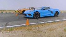corvette 911 gt500 short drag race