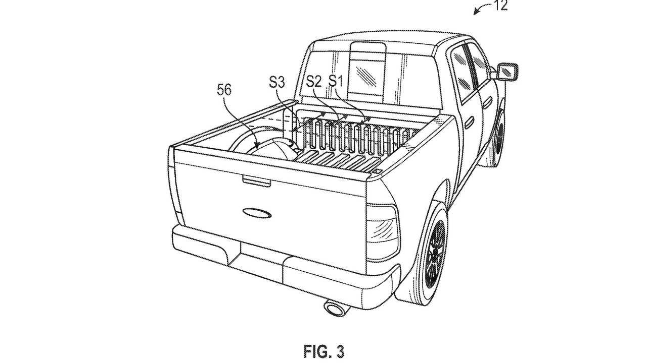 Ford F-150 Electric leaked patent image (range-extender position)