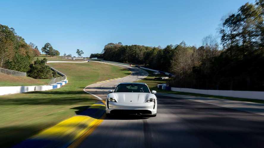 La Porsche Taycan à Road Atlanta