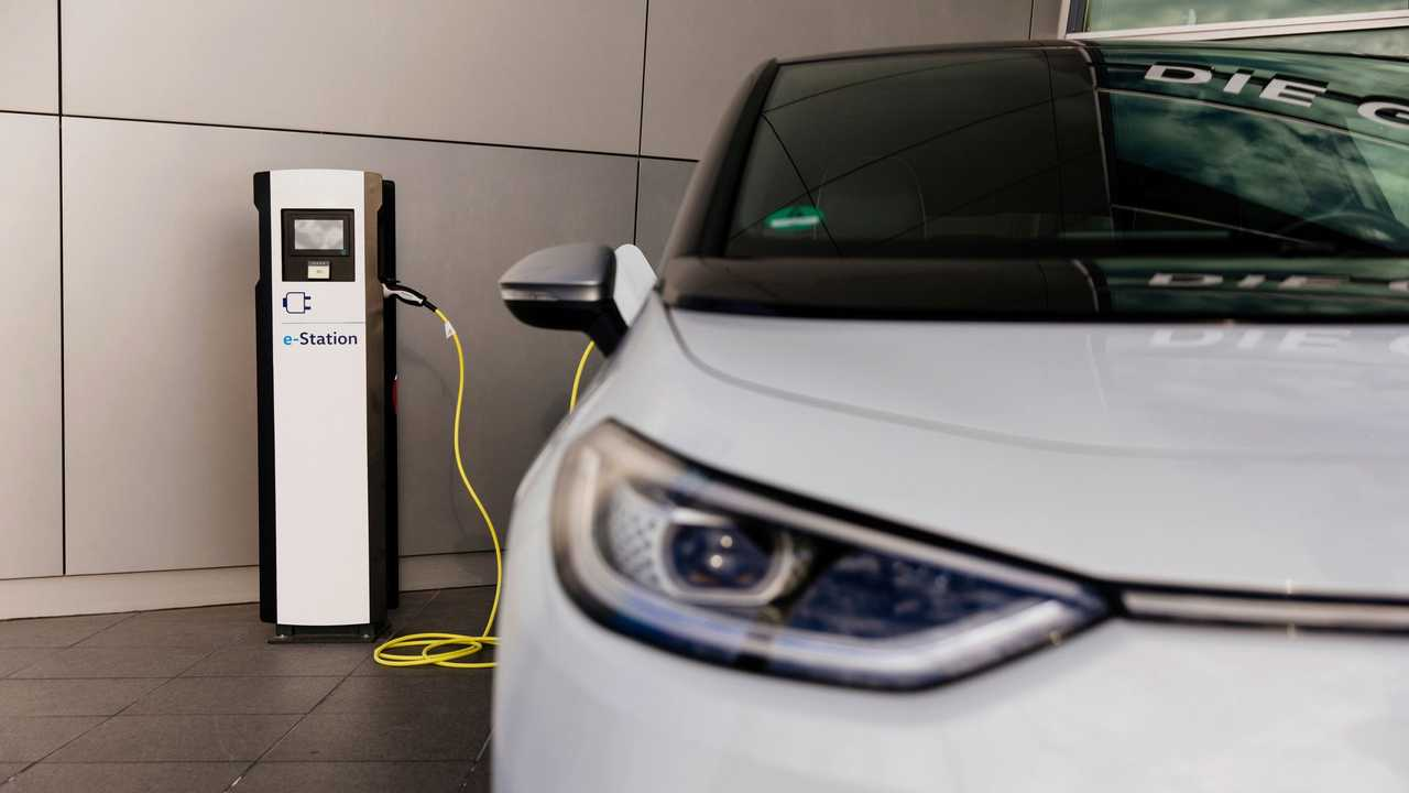 Volkswagen ID.3 at a charging station
