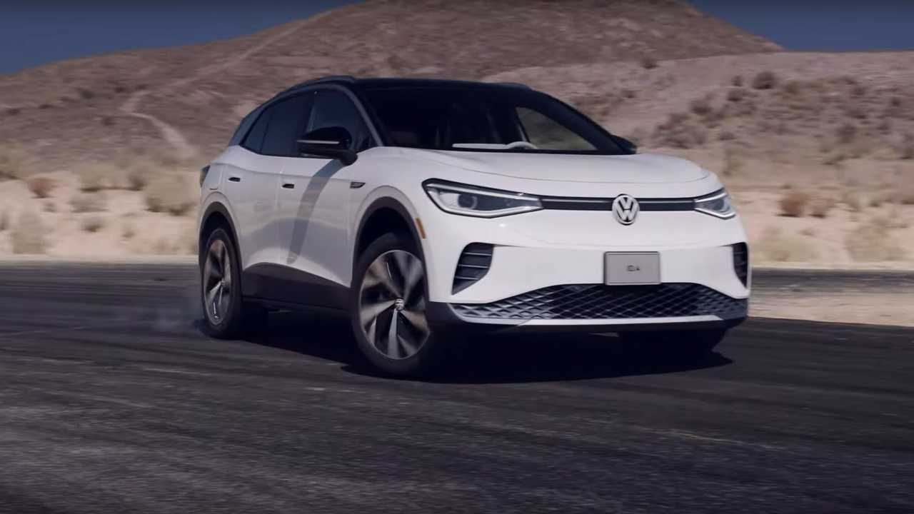 Volkswagen ID.4 de pré-produção na pista