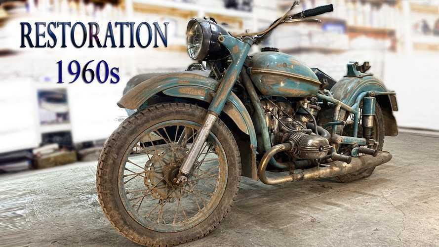 Motor Ural Vintage Bangkit Kembali di Tangan Seorang Ilmuwan