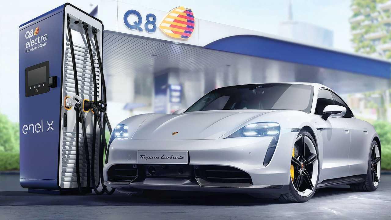 Enel X, Q8 e Porsche Italia insieme per le colonnine rapide nei distributori