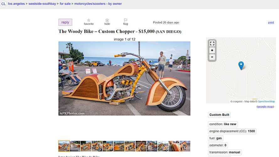 All Woody, No Wagon: Custom Chopper Is Looking For A New Home