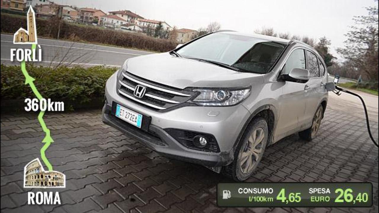 [Copertina] - Honda CR-V 1.6 i-DTEC, la prova dei consumi