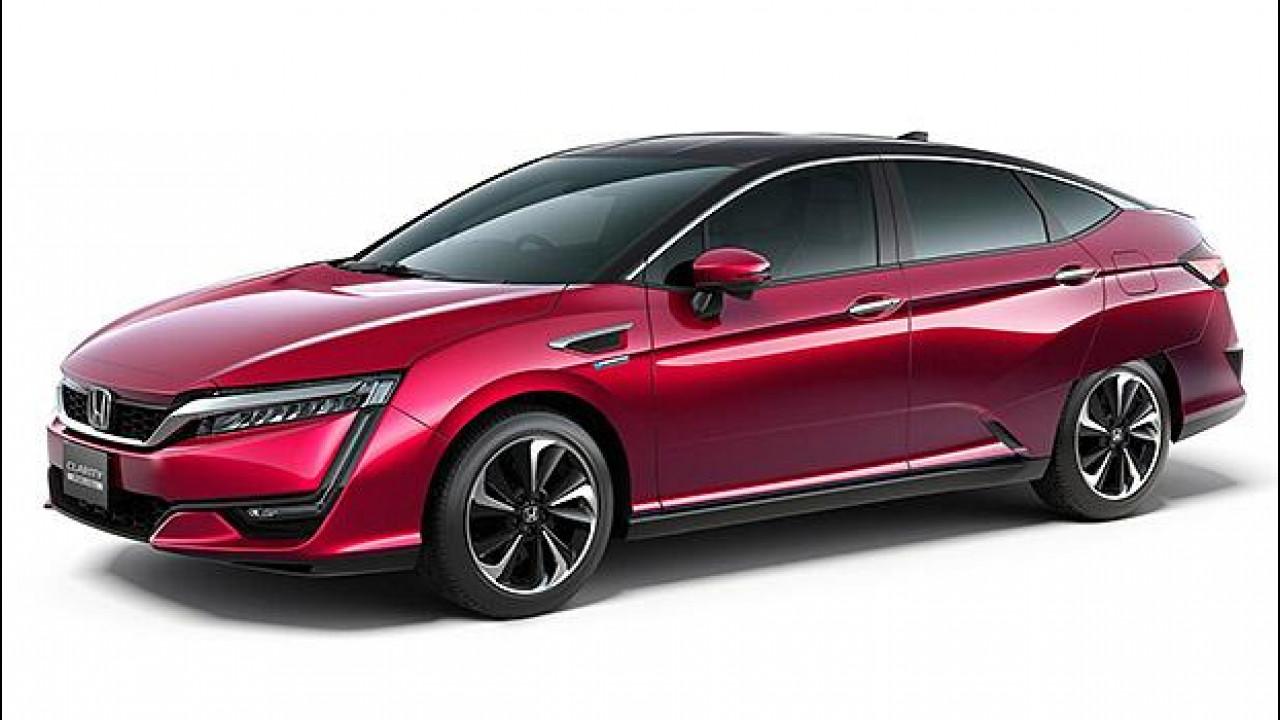 [Copertina] - Honda Clarity Fuel Cell, 700 km con un pieno d'idrogeno