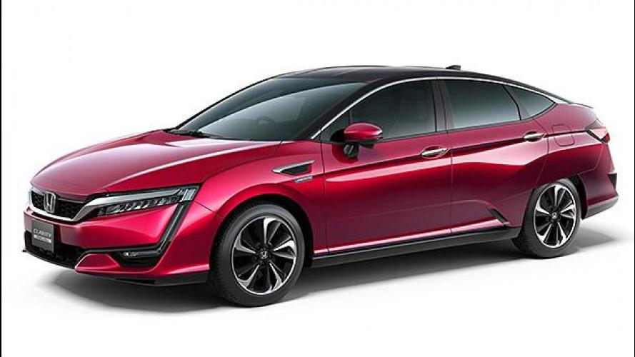 Honda Clarity Fuel Cell, 700 km con un pieno d'idrogeno