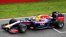 Sebastian Vettel Red Bull Racing RB10 29.01.2014 Formula One Testing Jerez Spain