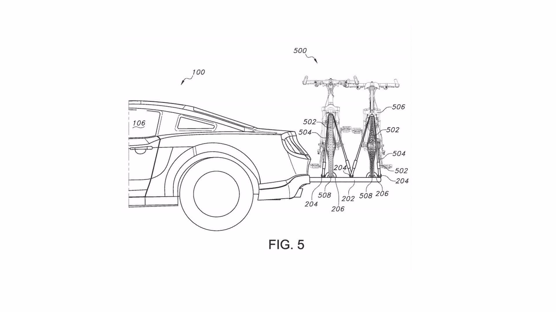 ford retractable bicycle carrier patent ford patents hideaway bike rack for outdoorsy mustang drivers