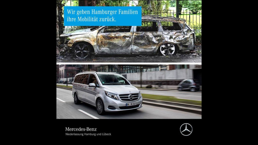 Mercedes Offers Vans To Affected Families Of G20 Summit Vandalism