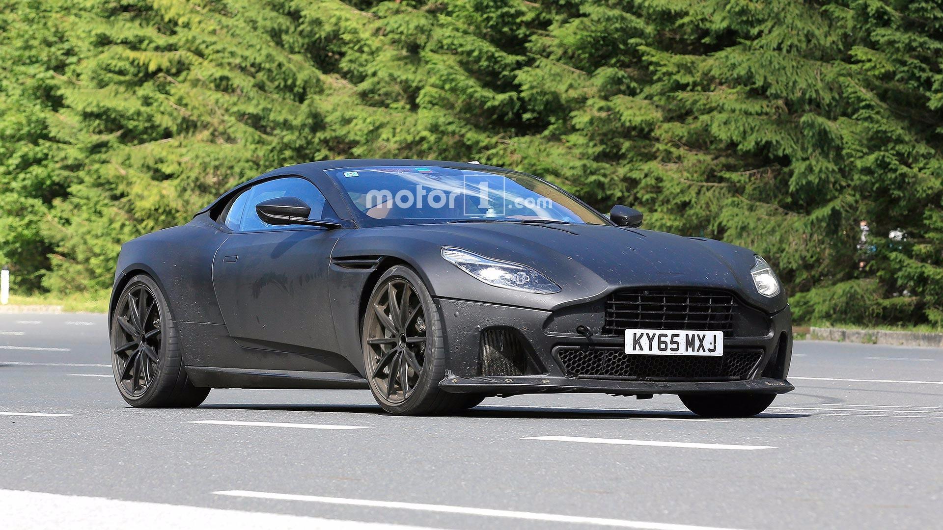 Aston Martin Db11 S Spied With Matte Black Body Lower Suspension