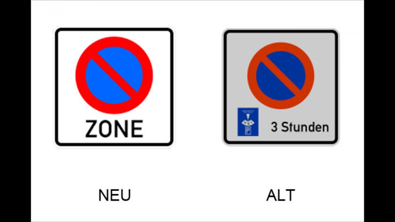 Eingeschränktes Haltverbot für eine Zone