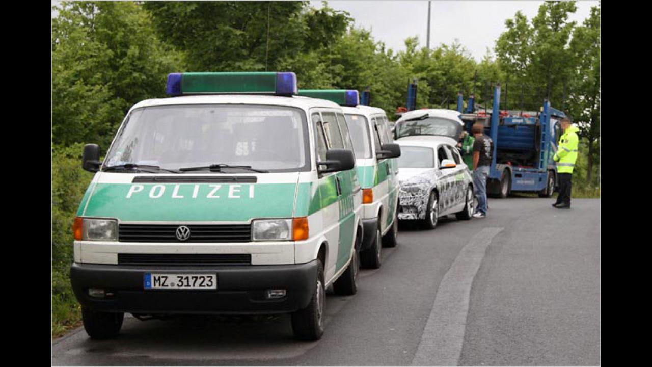 Von der Polizei gestoppt