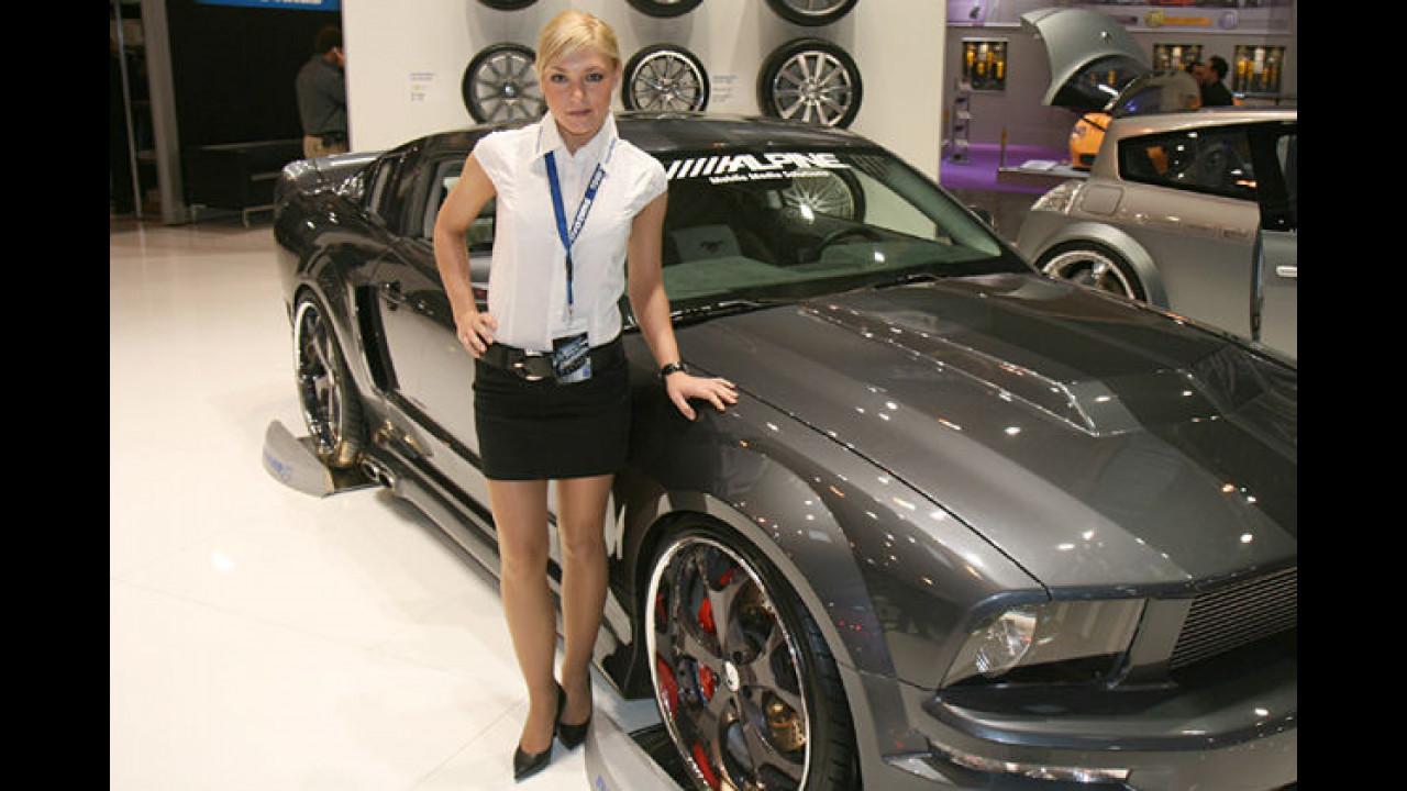 Wow, diese Alpinistin hat aber einen heißen Mustang!