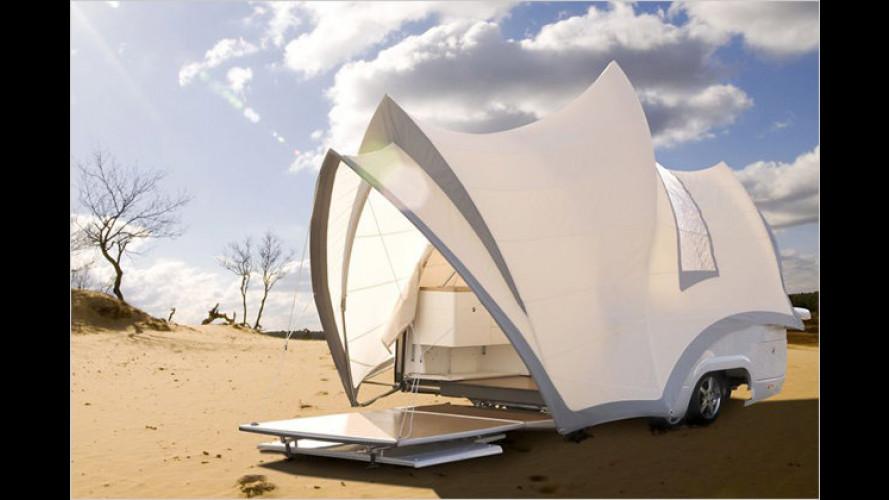 Spektakulär campen: Luxuriöser Zeltcaravan aus Holland