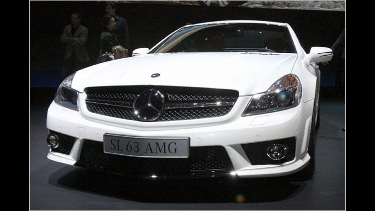 Ab April 2008 steht der neue Mercedes SL 63 AMG bei den Händlern