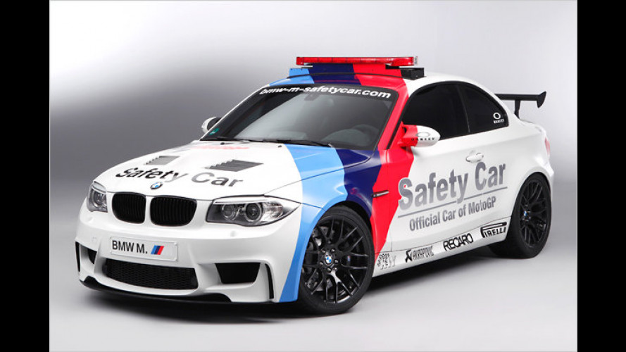BMW 1er M Coupé als Safety Car in der MotoGP