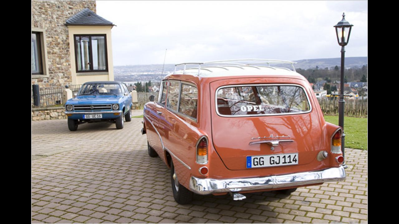 Opel Ascona A und Olympia Rekord Caravan