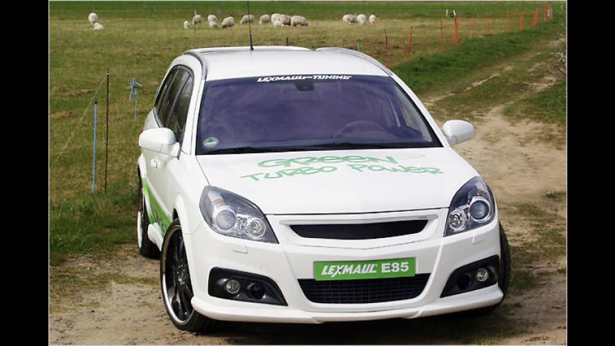 Grüner Heizer: Opel Vectra Flexifuel von Lexmaul