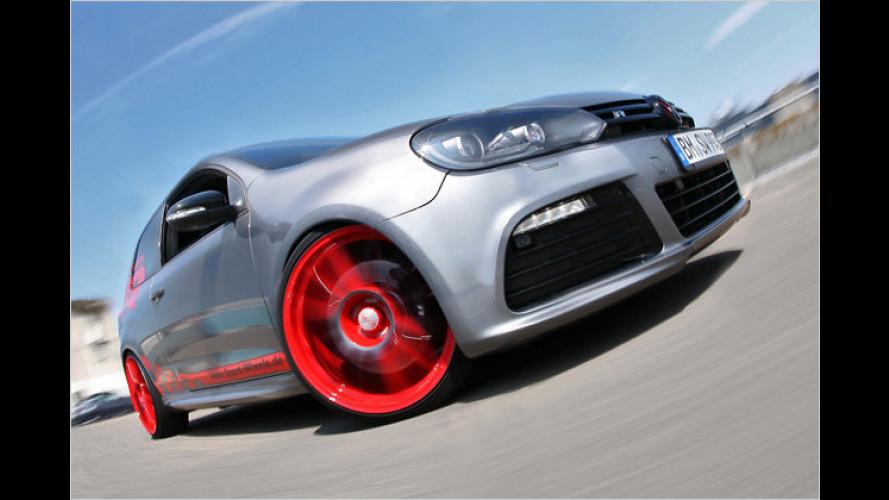 Auffälliger Look, mehr Power: Sport-Wheels tunt VW Golf R