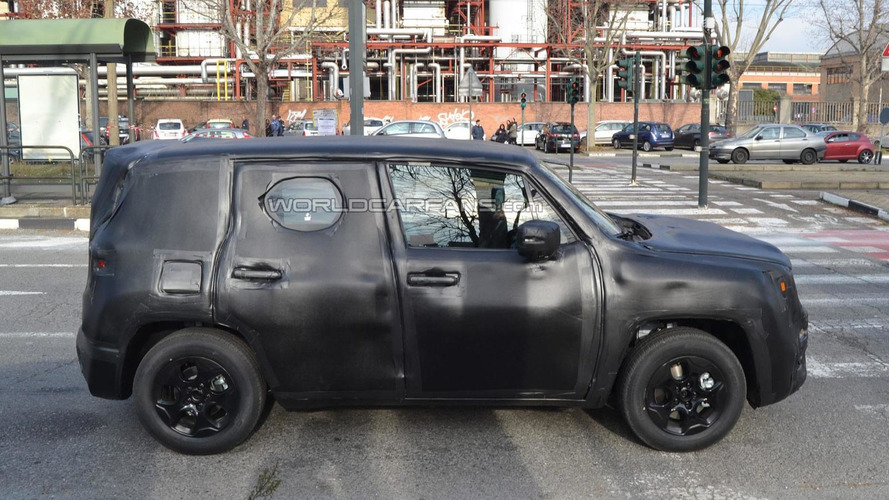 Jeep's entry-level crossover shows its boxy shape in latest up close spy pics