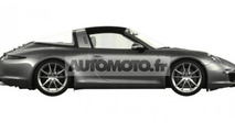 2014 Porsche 911 Targa patent photos
