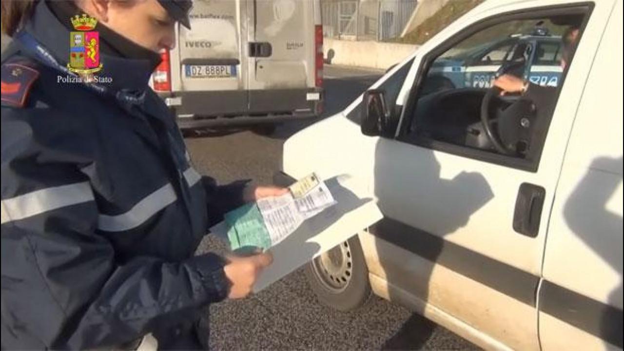 [Copertina] - Rca, maxi operazione della Polizia Stradale contro le assicurazioni false o mancanti