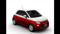 Fiat 500 in livrea bicolore