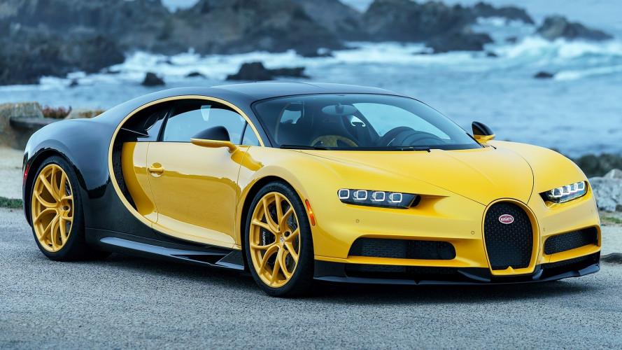 Bugatti Chiron, la prima americana è gialla e nera