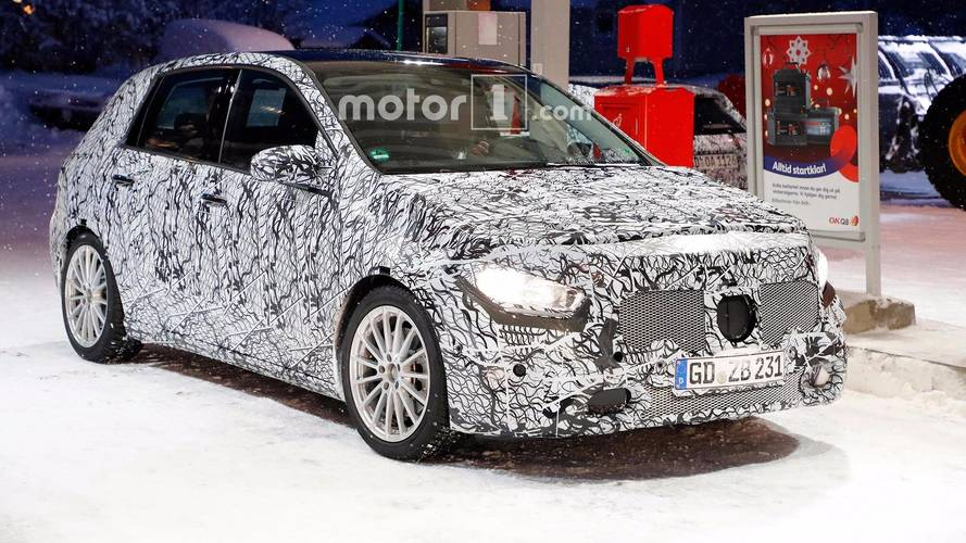 Next-Gen Mercedes B-Class Spied Filling Up On Fuel