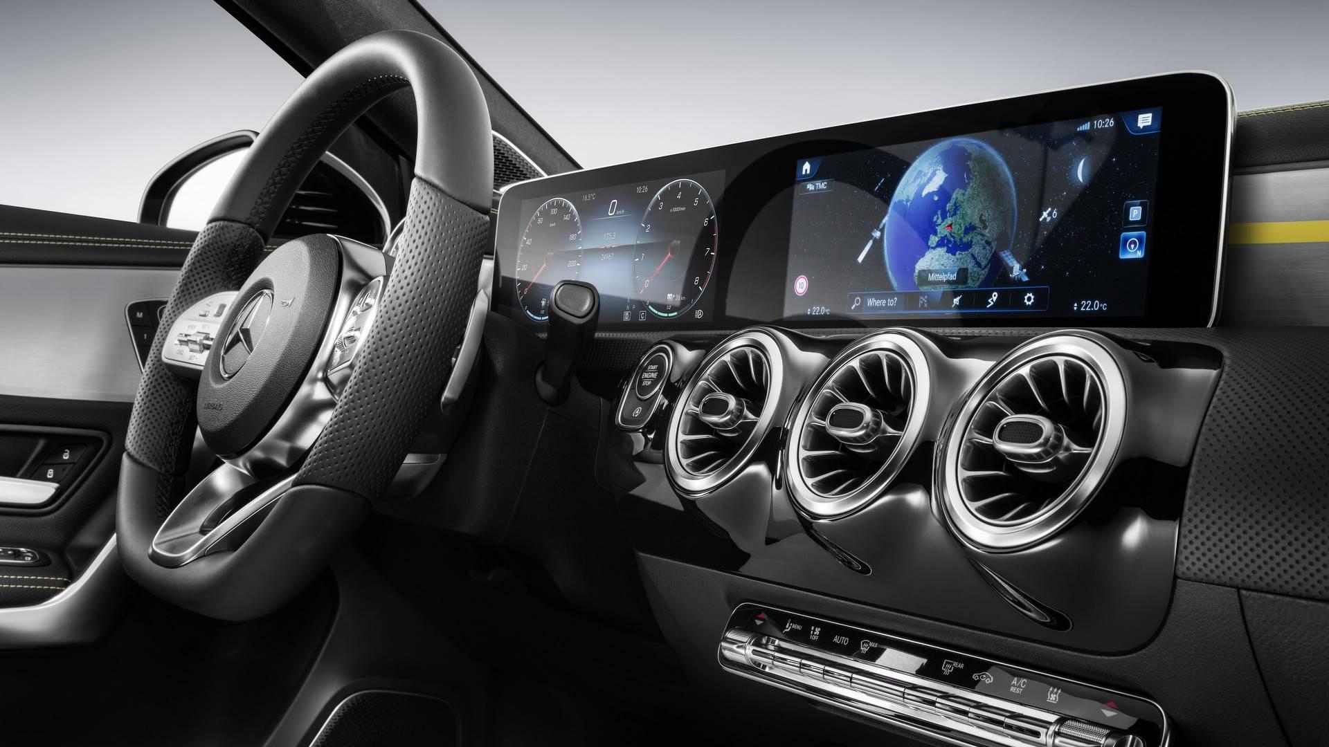 2018 Mercedes A Class Reveals Its High Tech Interior