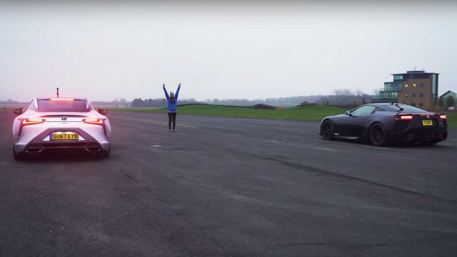 Lexus LFA vs LC 500 Drag Race